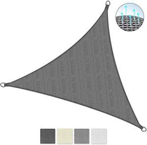KAJI Breathable UV Protection Canopy Sail Triangle 3 x 3 x 3 m White,Anthracite,3.6 X 3.6 X 3.6 M