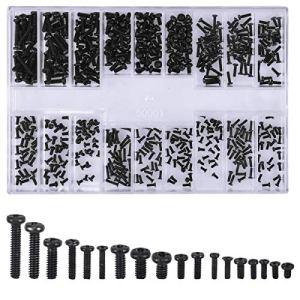 Kissral 500 Pièces Kit de Vis pour Ordinateur Portable Universel M1.2 M1.4 M2 Noir