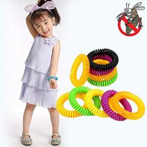 QKP Bracelets Répulsifs Bracelets Antiparasitaires Protection Insecte Anti Moustique 10 Pièces/Ensemble Multicolore