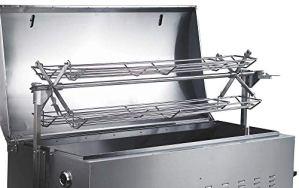 Tepro Panier grill à poulets pour cuire le cochon de lait, l'agneau et le poulet, panier grill «Columbus» en acier inoxydable, 26 x 132 x 22 cm, 12900002