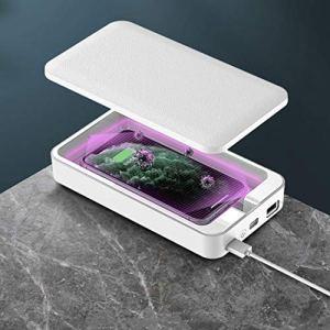 WJH G20 lumière UV désinfection Boîte de stérilisation Boîte Smartphone Nettoyage stérilisateur (Blanc) (Couleur : Blanc)