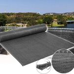 WOLTU GZZ1223an03 Brise Vue renforcé pour Balcon 150g/m² Protection Contre Le Vent Protection visuelle 2x15m Anthracite