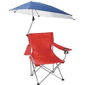 WYFDM Crème Solaire Camping Pliant Tabouret Portable Petit Extérieur Croquis pour La Plage De Camping Pêche avec Porte-Gobelets Parapluie,Rouge