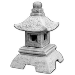 Belle oki yukimi lanterne japonaise gata en pierre de fonte, résistant au gel