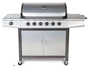 CosmoGrill Barbecue à gaz professionnel 6+1 Argenté.