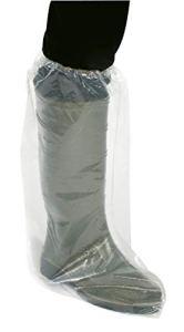 Couvre-chaussure jetable – A24475 (Version haute-blanc transparent)