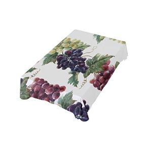 DXG1 Nappe rectangulaire pour utilisation extérieure et intérieure 152 x 274 cm Motif raisin 152 x 274 cm