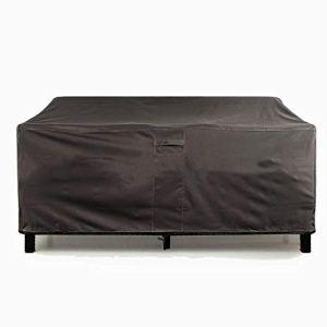 Housse de canapé imperméable en tissu Oxford 420D avec cordon de serrage et sac de rangement 193*83*84cm Noir