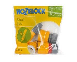 Hozelock Juego conectores básico Con Lanza en Bolsa, Estándar, 16,5×15,5×3,8 cm