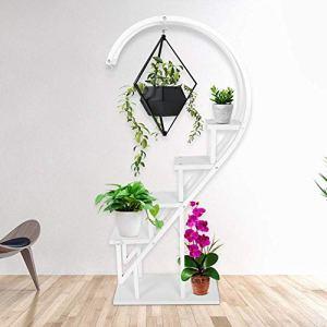 HXBH HXBHPrésentoir pour Pot De Fleurs, Support De Rangement Intérieur pour Balcon avec Crochet