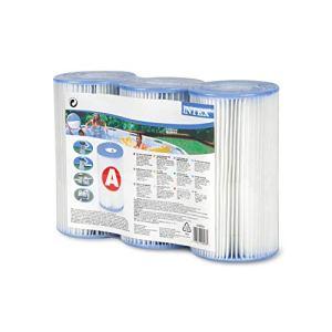 INTEX Type A Cartouche de Filtration pour piscines, Lot de 3