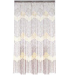 JVL Tuscany Écran de Rideau en Porte Perlée en Bois avec Vagues Suspendues, 90 x 180 cm