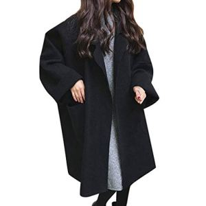 JXQ-N Femmes Manteau Oversize à Manches Longues en Vrac Longues Poches Cardigan en Maille Casual Coat Outwear Trench avec Grande Poche