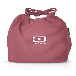 monbento – MB Pochette Blush Lunch Bag Rose – Sac bento Polyester – Idéal pour Les Lunch Box MB Original MB Square & MB Tresor