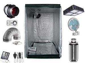 Nito GmbH Growbox Kit Complet de Lampes à Vapeur de Sodium 400 W 80 x 80 x 180 cm 600 Watt LED