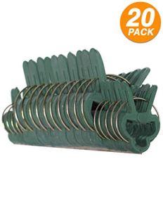 Rampro pièce Vert doux jardinage plantes et fleurs à levier Loop Gripper Clips, outil pour soutenir ou Lissage Plante tiges, tiges, et vignes 1″ + 1-3/4″ Green