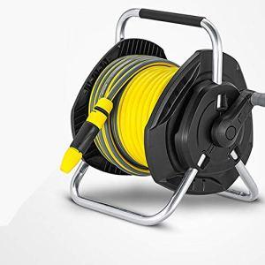 ReedG Outils de Jardin Conduite d'eau Portable Compact en Rack Durable Tuyau d'arrosage Bobine Voiture Eau de Lavage Dévidoir Durable et résistant aux intempéries (Color : Yellow, Size : 25m)