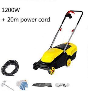 REWD Pelouse Tondeuse électrique numérique compacte Tondeuse à Gazon Largeur de Coupe 32 cm avec Chargeur 104 X 38 X 100cm (Size : 20m Power Cord)