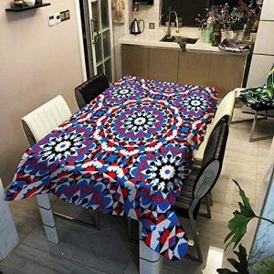 TIANENG Nappe étanche Vintage Peinture Couverture de Table Rectangle carré extérieur Pique-Nique Nappe 8 Taille Couverture de Table