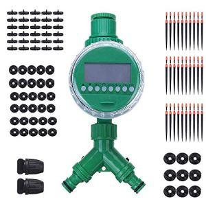 ZHTY Système d'irrigation de Jardin, kit d'irrigation Goutte à Goutte goutteurs réglables système d'irrigation à Brouillard Goutte à Goutte Bricolage