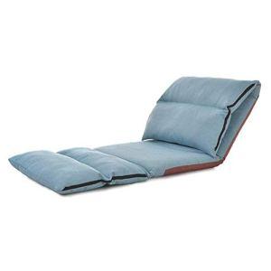 ASIG Chaise Longue Pliable de Plancher Meubles de Salon Meubles Modernes pliants réglables rembourrés relaxants, Couleur Bleue