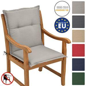 Beautissu Beautissu Matelas Coussin pour chaise fauteuil de jardin terrasse Loft NL 100x50x6cm – Gris clair
