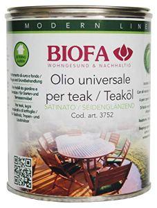 BIOFA 3752-5168 Pin 1 L Huile naturelle universelle pour ameublement en bois extérieur