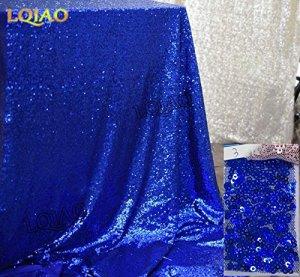 BLUELSS Japan style nappe en coton et lin fleurs dîner Table Cloth Macrame Decoration Table dentelle élégante couverture classique pour cadeau,Bleu royal