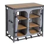 Bo-Camp Urban Outdoor Urban Outdoor Meuble de Cuisine Cuisine-Hampton-85x48x83 cm, Anthracite