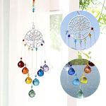 Boule de cristal de couleur Prismes attrape-soleil à suspendre à la fenêtre Ornement arc-en-ciel Maker à suspendre Ornement de jardin en cristal pendentif