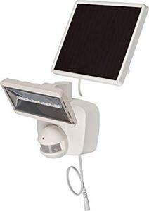 Brennenstuhl SOL 800 Projecteur LED solaire pour extérieur avec détecteur de mouvement et panneau solaire IP44 Batterie incluse Blanc 400 lm