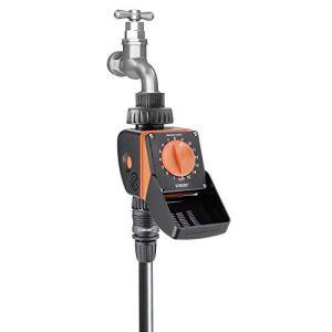 Claber 539228422Aquauno Logica Programmateur d'irrigation, noir/orange