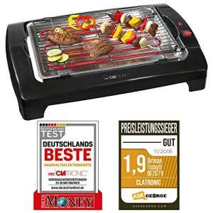 Clatronic Bq 2977 Barbecue Électrique 2000 Watts Parois Froides Hauteur de La Grille Ajustable