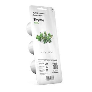 Click & Grow Smart Herb Garden Pack de 3 Recharge pour jardinière Thym, Blanc, 15 x 4 x 4 cm