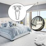 Crochet de plafond en acier inoxydable – Support de plafond – Support de sac de frappe – Balançoire – Yoga – Gym – Fixation hamac – Charge maximale : 400 kg