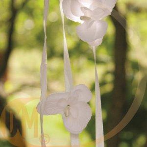 Fleur orchidée sur tige ( lot de 6 fleurs )-tilleul