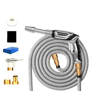 HRSS Tuyau d'arrosage Lavage de Voiture Ensemble Injection d'eau 3 Fois allongement avec Pistolet Multi-Fonction connecteur Multifonction (Taille: 3,3m) (Size : 7.5m)