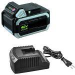 Ikra 17180929-AZ2 Batterie Li-Ion 40 V 2,5 Ah et Chargeur standard Système ONE FOR ALL
