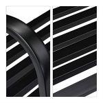 Relaxdays Banc de Bascule, en Acier, Protection Anti Rouille, résistant, avec balançoire, HlP 86x127x69 cm, Noir