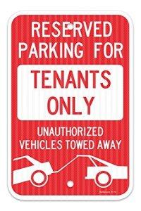 Réservées au stationnement pour panneau 100GbE seulement fédéral 12x 18en aluminium plaque métal Signes Boîte signalisation vintage plaques Signs decorative plaque