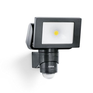 Steinel Projecteur LED extérieur LS 150 avec détecteur de mouvement 12 m – Spot mural extérieur avec capteur de présence – Luminaire de jardin 20,5W, noir