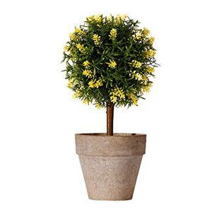 TTaceb Plantes Artificielles Fausse Plante Plantes d'intérieur en Pot Plantes D'extérieur Artificielle des Plantes en Plein Air Jardin Décor Yellow