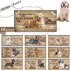 Types de plaques de chien en bois à suspendre pour la décoration de la maison, pour les amoureux de chien, pour la décoration de la maison, etc., NO.10