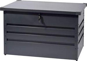 Valor Coffre de Jardin en métal Anthracite 300 l 100 x 61 x 62 cm