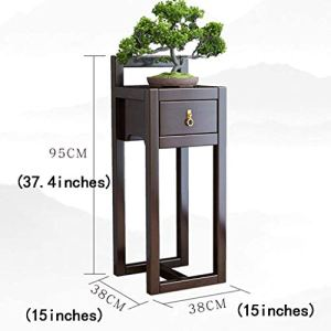 XINTONGLO Pots de Fleurs Couloir Fleur Balcon étage Salon Maison en Bois Brun étagères Racks tiroir, Taille: 38 * 38 * 95
