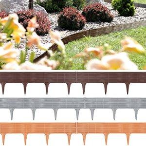 7,8m Bordure de jardin, rebord de jardin palisade pelouse parterre – gris