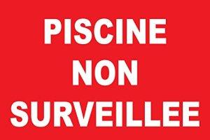 Adhésif «Piscine non surveillée»