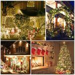 Bozhzo Guirlande lumineuse solaire d'extérieur avec 50 boules LED, 7 m, 8 modes, étanche IP65, guirlande lumineuse, arbres, Noël, mariage, fête, intérieur et extérieur