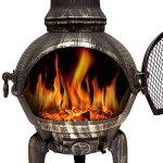 Cheminée en fonte extérieur BBQ Grill brasero grill Barbecue 112 cm