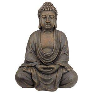 Design Toscano Statue de jardin de taille moyenne du Bouddha méditatif du grand temple